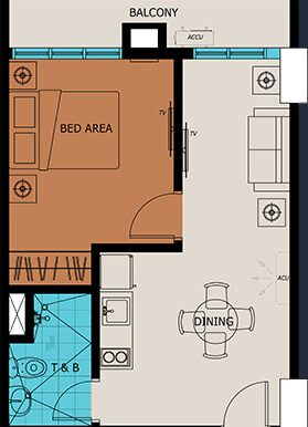 1BR with Balcony