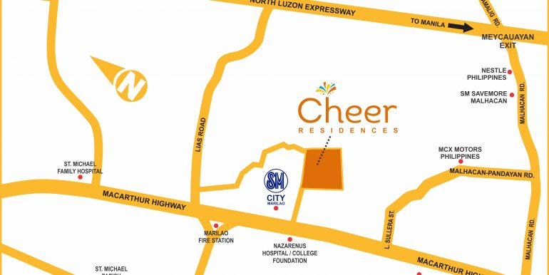 Cheer updated map